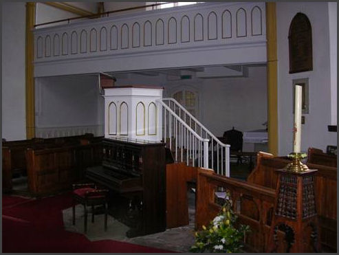 pulpit and north gallery